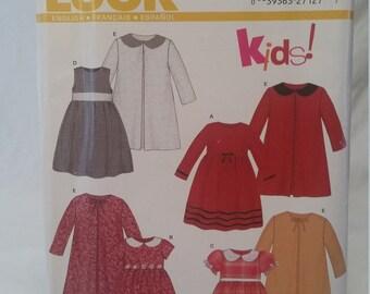 New look pattern 6309 little girls dress pattern/little girls dress pattern/new look patterns