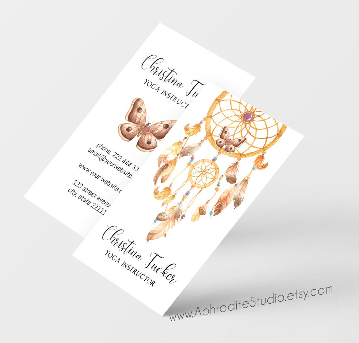 Business cards - Yoga business cards - Printable business cards ...