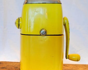 Vintage Yellow Ice-O-Mat Ice Crusher