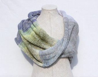 Oversized scarf mohair / Bridal cape / Blanket scarf / Hooded scarf / chunky knit / Christmas gift / Cowl - First Frost 1