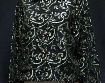 Classy Reversible Black Chenille Jacket