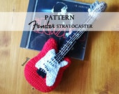 PATTERN. Guitar Fender Stratocaster -  2 PDF Spanish and English - pattern amigurumi - crochet guitar