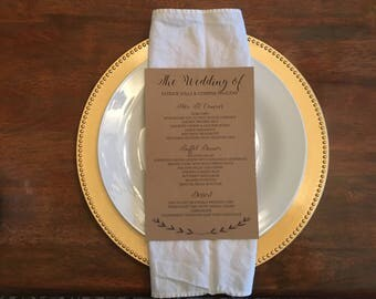 Wedding/Holiday/Special Occasion Menus