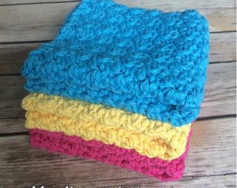 Dish cloths Wash cloths Baby wash cloths Exfoliating cloths Wash cloth set Gift set Kitchen gift set Housewarming gift Kitchen cloths
