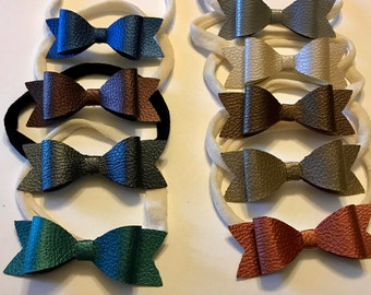 Faux leather Bow headbands