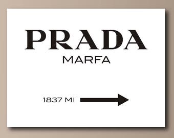 Prada Marfa Black on White Canvas Print - Gossip Girl