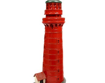 Handmade ceramic lighthouse candle holder - Kolkas