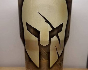 Hydrodipped Spartan Kryptec Banshee Stainless Steel Tumbler 30oz