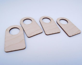 Wooden Number Tag Without Number for Crafts - Laser Cut - Dressing Room Number - Number Tags - Wardrobe Numbers