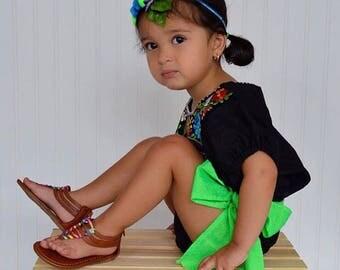 Mexican Headwrap Dress Sash Accesory