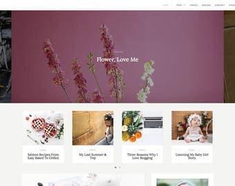 Boutique Wordpress Theme — Premade Wordpress blog theme — Responsive Wordpress Theme — Dandeliona —  Feminine Wordpress Theme