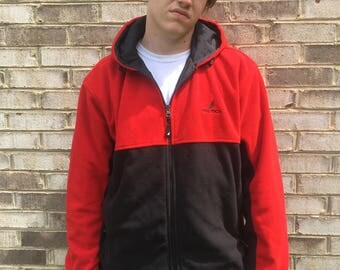 Reversible Nautica Red and Black Fleece Jacket