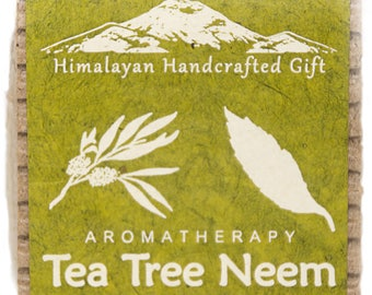 Tea tree and Neem natural soap. made in the Himalaya, a true artisan Nepalese product.