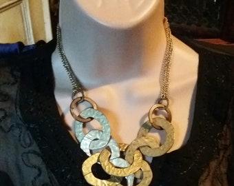 vintage gold tone seventies necklace