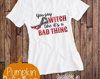 Halloween Shirt/Witch Halloween Shirt/Wicked Witch Shirt/Fall Shirt/Personalized Halloween Shirt/Witch Legs Shirt/Wizard of Oz Shirt