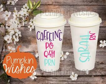 RN Travel Mug/Personalized RN Cup/Nurse Coffee Cup/Nurse Appreciation Cup/RN Week