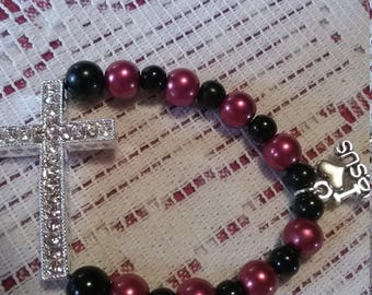 Red & black childs bracelet.