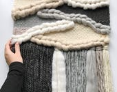 Large woven wall hanging ...
