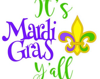 It's Mardi Gras y'all SVG