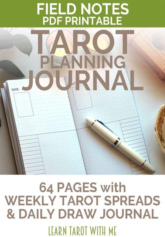 Weekly Tarot Reading I Healingtarotnet: Field Notes Undated Dot Grid Tarot Journal & Daily Planner