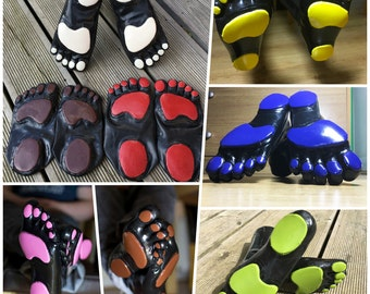 Rubber Latex Toe Socks With Pawpads