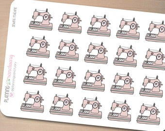 Sewing Machine Planner Stickers Perfect for Erin Condren, Kikki K, Filofax and all other Planners
