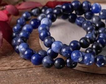 SODALITE Power Bracelet - Sodalite Jewelry, Sodalite Bracelet, Sodalite Stone, Healing Bracelet Sodalite Beads, Sodalite Bead Bracelet E0584