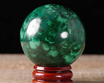 47mm MALACHITE Sphere - Malachite Crystal, Malachite Stone, Polished Malachite, Green Crystal Ball, Crystal Sphere, Malachite Ball 36743