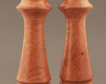 Madrone Burl Pepper and Salt Mill Set 10""