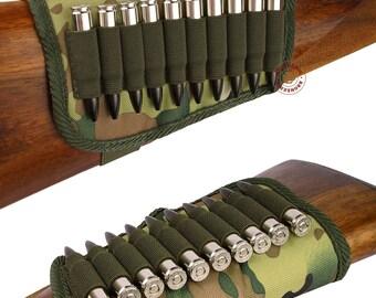 Buttstock Cartridge Holder, Hunting Rifle Buttstock Holder Cover, Shotgun Buttstock Shell Holder 7.62 caliber