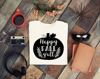 Happy Fall Y'all svg, autumn svg, pumpkin svg, thanksgiving svg, southern svg, fall svg, football SVG vector file, turkey day svg, diy