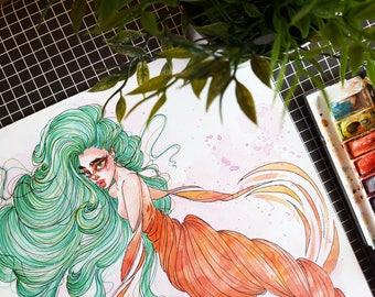 Mermaid II / ORIGINAL Artwork