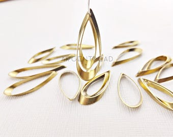 10pcs 8*28mm and 11*34mm Teardrop Brass Pendant . Jewelry Craft  AG359