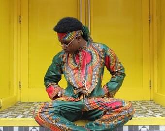 African Dashiki Shirt - Ethical Shirt - Print Shirt - Wax Print Top - African Two Piece - African Shirt - Ethical Clothing - Festival Shirt