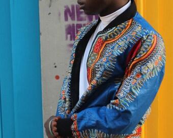 Bomber Jacket - Dashiki Jacket - African Bomber Jacket - African Clothing - Ankara Clothing - Festival Jacket - Festival Clothing - Bomber
