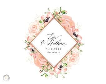 Custom Logo Design, Wedding Monogram, Wedding Logo, Photography Logo, Watercolor Logo, Monogram Logo, Personalized Logo, Business Logo, #PRG