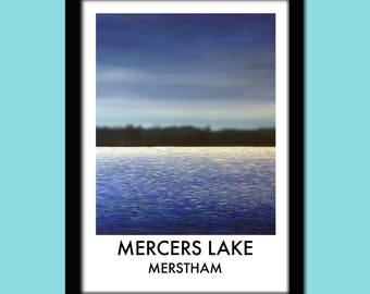 Mercers Lake, Merstham Travel Poster