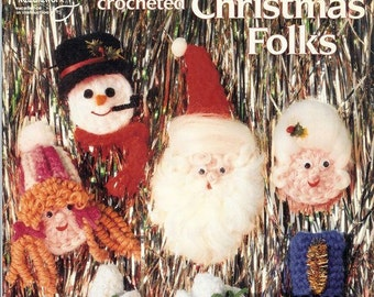 Crocheted Christmas folks, crochet pattern in magazine pdf format