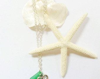Sea Glass Necklace Sea Glass Jewelry Sea Glass Mermaid Jewelry Pedant Beach Glass Necklace Beach Wedding Jewelry Beach Bridesmaid Necklace
