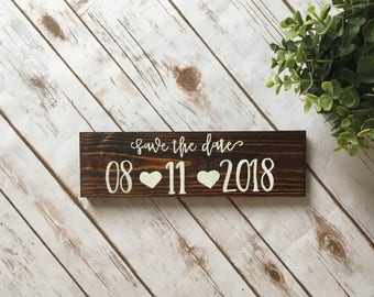 Save the date sign engagement photoshoot sign custom wedding date baby due date sign save the date banner country wedding dog sign