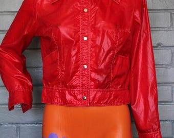 Vintage 1960's 70's Cropped Red Jacket