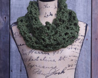 Forest Green Honeycomb Cowl