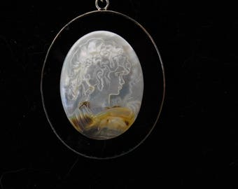 Mother Of Pearl Cameo Necklace #273