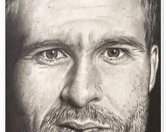 "pencil portrait ""Yohan Cabaye"" graphite"