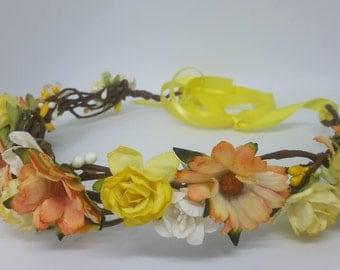 Rustic Berry & Flower Vine Crown