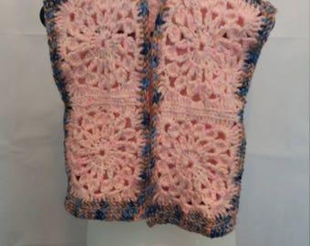 Crocheted childs gilet