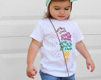 Ice Cream Shirt, Ice Cream Birthday Party, Birthday Party Outfit, Ice Cream Cone Shirt, Baby Girl Ice Cream, Summer shirts, Pastel Ice Cream