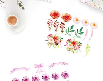 Flower Set Sticker Set