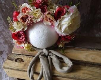 Peach blossom Sitter Bonnet