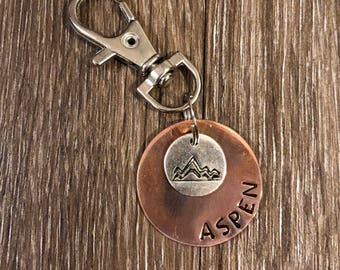 Mountain Charm Round Pet ID Tag